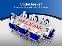 Attend Webnair For Business Growth PowerPoint Templates Ppt Backgrounds For Slides 0513