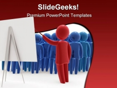 Audience Business PowerPoint Template 0810
