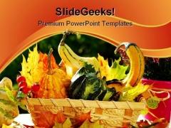 Autumn Garden Still Life Food PowerPoint Templates And PowerPoint Backgrounds 0211