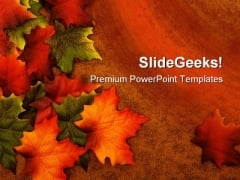 Autumn Leaves01 Nature PowerPoint Template 1010