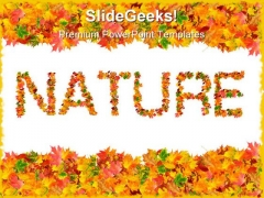 Autumn Leaves Nature PowerPoint Templates And PowerPoint Backgrounds 0711