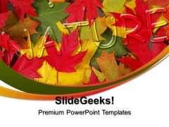 Autumn Leaves Nature PowerPoint Templates And PowerPoint Themes 0312