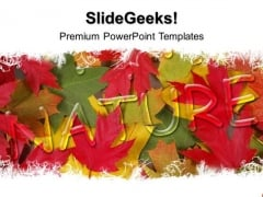 Autumn Leaves Nature PowerPoint Templates And PowerPoint Themes 0412