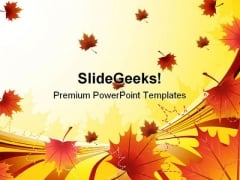 Autumn Nature PowerPoint Template 1010