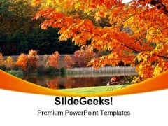 Autumn Park Nature PowerPoint Template 1010