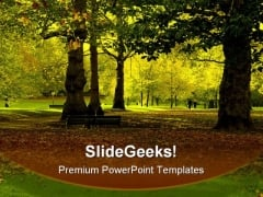 Autumn Park Nature PowerPoint Templates And PowerPoint Backgrounds 0211