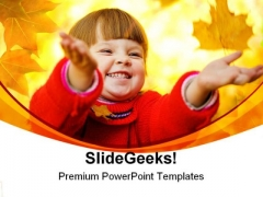 Autumnal Magic Children PowerPoint Templates And PowerPoint Backgrounds 0411