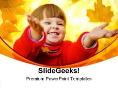 Autumnal Magic Children PowerPoint Themes And PowerPoint Slides 0411