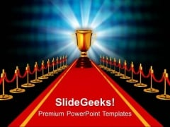 Award On Red Carpet Competiton PowerPoint Templates Ppt Backgrounds For Slides 0113