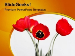 Awesome Spring Flowers Joyous Theme PowerPoint Templates Ppt Backgrounds For Slides 0613