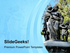 Awesome Statue Of Maria Sculpture PowerPoint Templates Ppt Backgrounds For Slides 0713