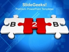 B2b Jigsaw Puzzles PowerPoint Templates And PowerPoint Themes 0812