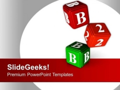 B 2 B Cubes Business PowerPoint Templates Ppt Backgrounds For Slides 0413