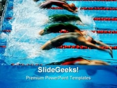 Back Stroke Swimming Sports PowerPoint Themes And PowerPoint Slides 0511