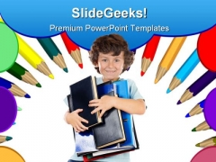 Back To School Education Children PowerPoint Backgrounds And Templates 1210