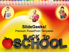 Back To School Education Children PowerPoint Templates And PowerPoint Themes 0712