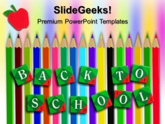 Back To School Pencils Education PowerPoint Templates And PowerPoint Themes 0512