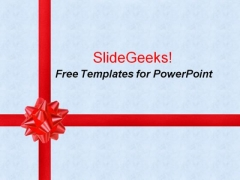 Beautiful Red Gift Ribbons PowerPoint Template