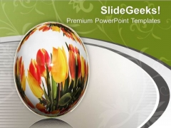Background With Graphics Of Egg And Flowers PowerPoint Templates Ppt Backgrounds For Slides 0513