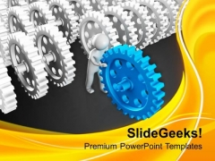Backup Gear Can Change The Process PowerPoint Templates Ppt Backgrounds For Slides 0713
