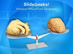 Balance Between Heart And Brain PowerPoint Templates Ppt Backgrounds For Slides 0713