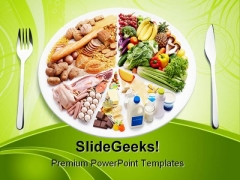 Balance Diet Food PowerPoint Templates And PowerPoint Backgrounds 0211