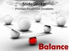 Balance Shapes PowerPoint Template 0910