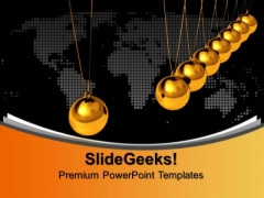 Balancing Balls Newton Cradle Symbols PowerPoint Templates And PowerPoint Themes 0912