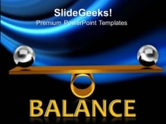 Balancing Balls On Wooden Board Business PowerPoint Templates And PowerPoint Themes 0812
