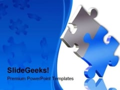 Balancing Puzzle Business PowerPoint Template 1110