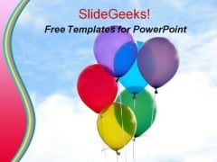 Colorful Balloons Kids PowerPoint Templates