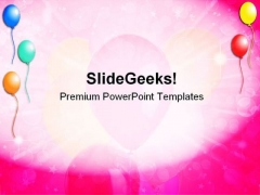 Ballons Background Beauty PowerPoint Themes And PowerPoint Slides 0411