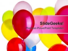 Balloons Entertainment PowerPoint Background And Template 1210
