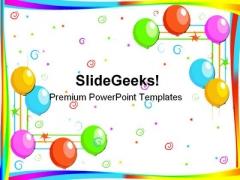 Balloons Festival PowerPoint Template 0810