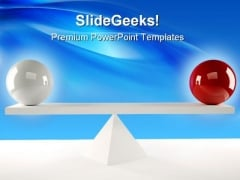 Balls Balance Business PowerPoint Themes And PowerPoint Slides 0511