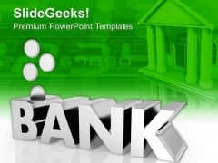 Bank Management Factors With Coins PowerPoint Templates Ppt Backgrounds For Slides 0413