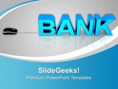 Bank With Computer Mouse PowerPoint Templates And PowerPoint Themes 1012