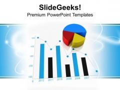 Bar And Pie Chart Business Theme PowerPoint Templates Ppt Backgrounds For Slides 0413