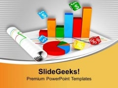 Bar And Pie Chart For Global Business PowerPoint Templates Ppt Backgrounds For Slides 0513