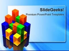 Bar Chart Business PowerPoint Template 0810