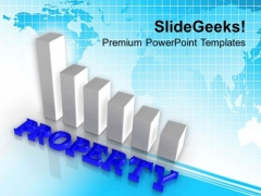 Bar Chart To Show Increment In Real Estate PowerPoint Templates Ppt Backgrounds For Slides 0313