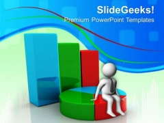 Bar Graph And Pie Chart Marketing PowerPoint Templates And PowerPoint Themes 0612