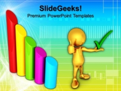 Bar Graph Business Growth Success PowerPoint Templates And PowerPoint Themes 0912