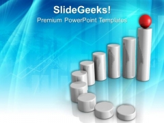 Bar Graph Dimensional Success PowerPoint Templates And PowerPoint Themes 0712