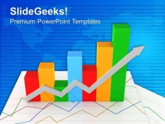Bar Graph For Business Ups Down PowerPoint Templates Ppt Backgrounds For Slides 0513