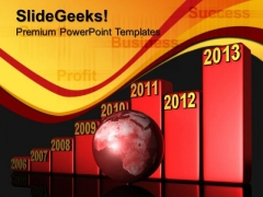 Bar Graph Growth Success PowerPoint Templates And PowerPoint Themes 0812