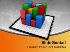 Bar Graph On Chart Marketing PowerPoint Templates Ppt Backgrounds For Slides 0213