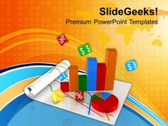 Bar Graph Pie Chart Business Growth PowerPoint Templates Ppt Backgrounds For Slides 0413