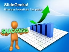 Bar Graph Rising Success PowerPoint Themes And PowerPoint Slides 0611