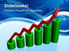 Bar Graph Showing Sales PowerPoint Templates And PowerPoint Themes 0512